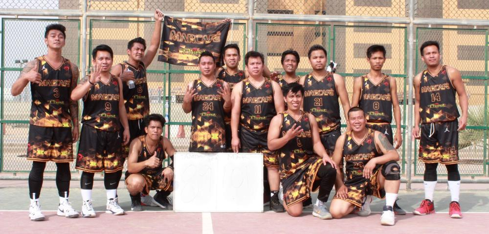 Marcafe team after its back-to-back win