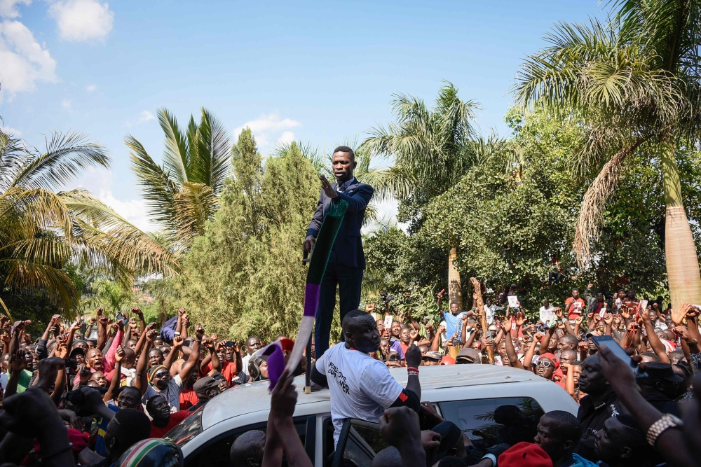 Ugandan MP Bobi Wine arrested at airport upon his arrival