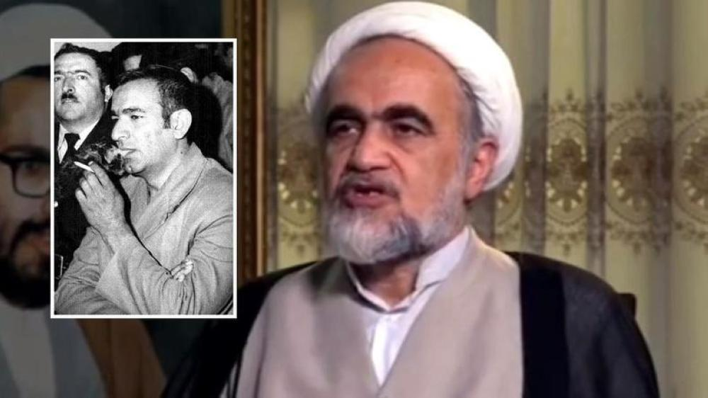 Mullah Ahmed Montazeri, son of late Shiite cleric Hossein Ali Montazeri, details on Iranian TV how Mehdi Hashemi (inset), who was at that time a senior official in the Revolutionary Guards, hid explosives in the bags of 100 Iranian pilgrims without their knowledge.