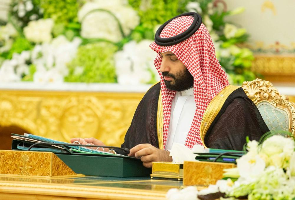 Crown Prince Muhammad Bin Salman, deputy premier and minister of defense, attends the Cabinet session. — SPA