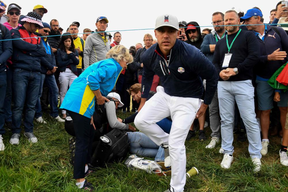 Ryder Cup golfer 'heartbroken' after wayward shot blinds spectator
