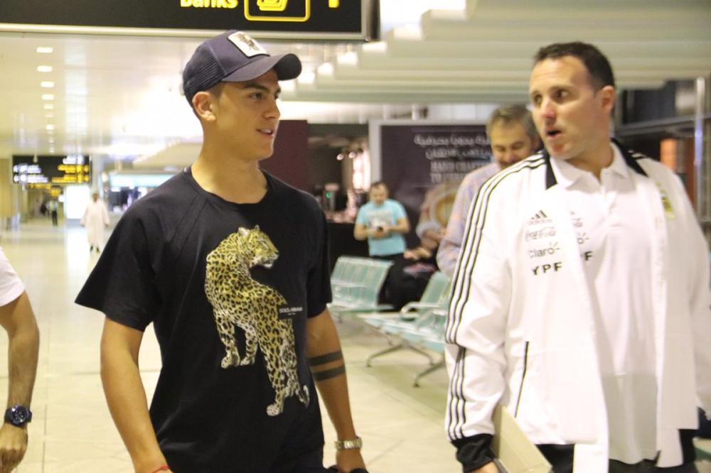 Dybala on his arrival in Riyadh Monday.
