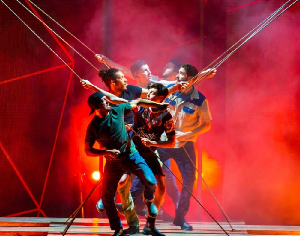 Dein Perry's multi-award-winning Tap Dogs showcases extreme high voltage tap dance and rugged, raw talent at the Riyadh Schools. — Courtesy photo
