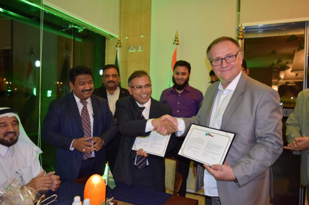 Polish Railway's CEO Arkadiusz Dobrzyński at the signing of the MoU with Nawazinda Group in Riyadh.