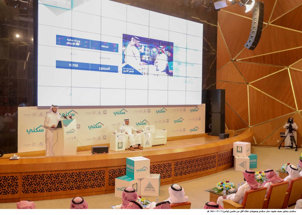 """Housing and financing options offered by the 10th batch of the """"My House"""" (Sakani) program being announced at a press conference in Riyadh on Monday. — SPA"""