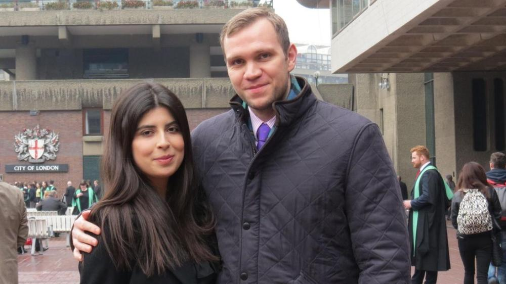Matthew Hedges with his wife Daniela Tejada. — Courtesy photo