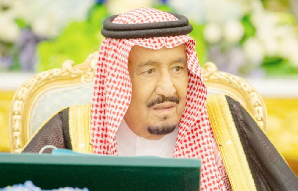 Custodian of the Two Holy Mosques King Salman chairing the weekly session of the Cabinet at Al-Yamamah Palace in Riyadh. — SPA