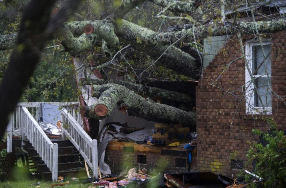Hurricane Florence caused an estimated $4 billion in insured losses, according to Swiss Re, who said it expected to be saddled with $120 million of those claims. — AFP