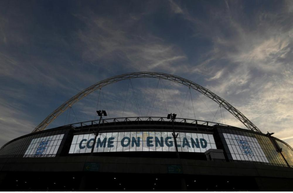 General view outside the London's Wembley stadium before the England vs Germany International friendly match in this file photo. — Reuters