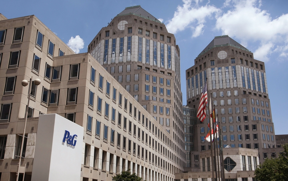 File photo shows Procter & Gamble Co. (P&G) corporate headquarters in downtown Cincinnati, Ohio. Procter & Gamble reported higher quarterly profits on Friday, amid solid performance for several key consumer products, but cut its full-year sales forecast due to the strong dollar. — AFP
