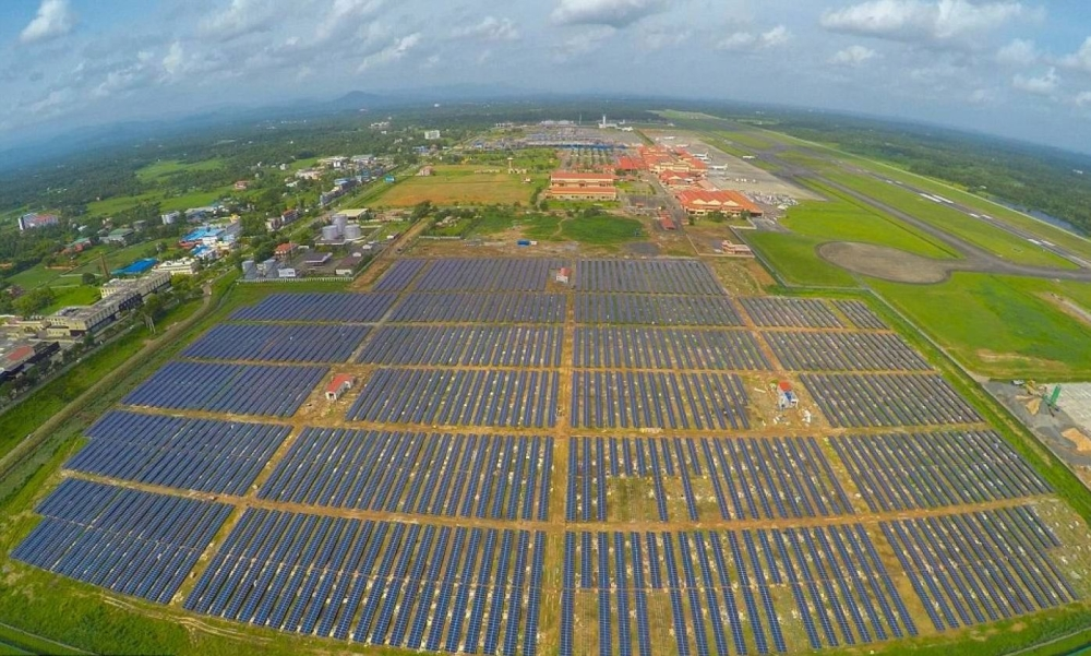 Cochin International Airport, the world's first fully solar-powered airport.