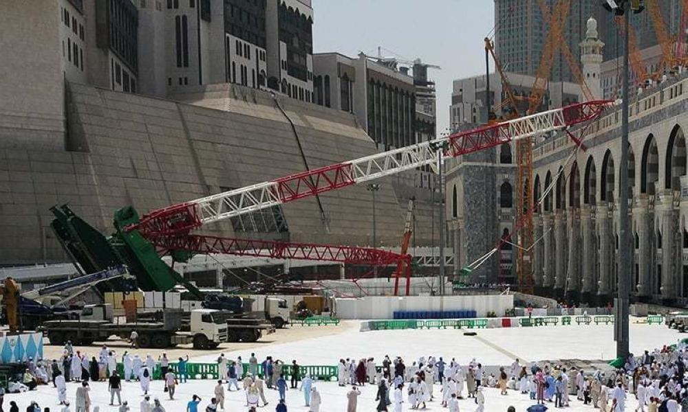 The Makkah crane crash took place on Sept. 11, 2015, claiming the lives of 110 people and injuring 209 others. — File photo