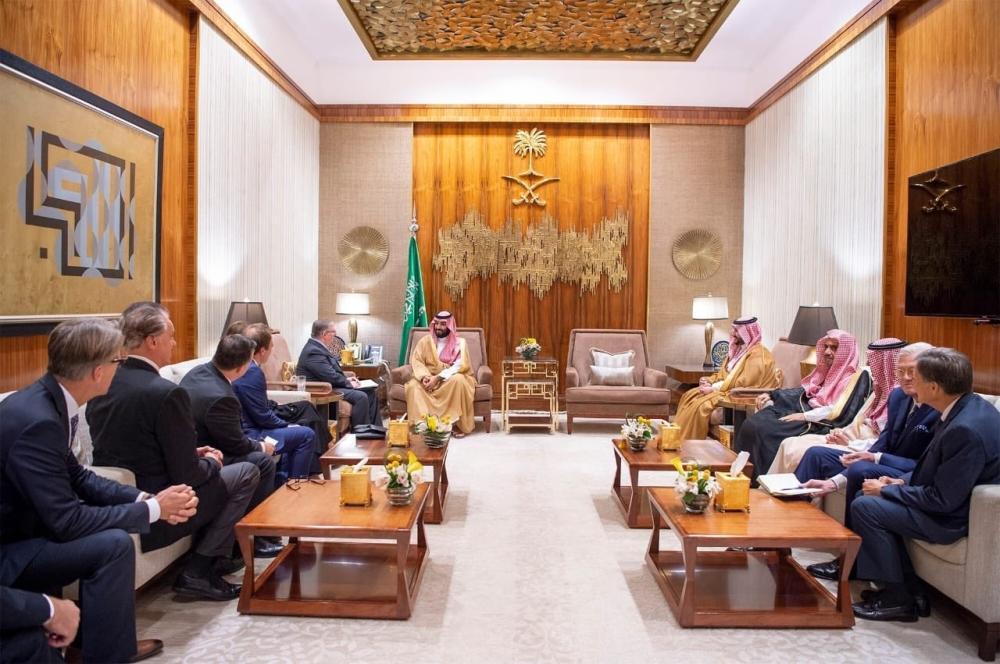 Crown Prince meets American Evangelical delegation