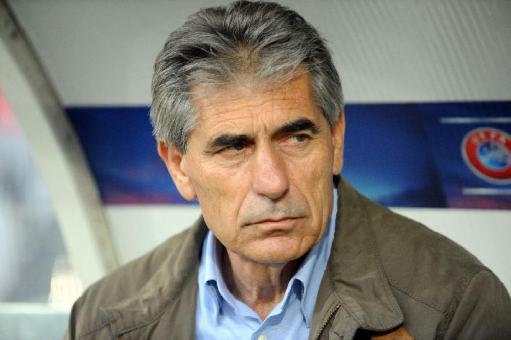 New Greece coach Angelos Anastasiadis, seen in this file photo, on Friday named a 23-man squad for upcoming Nations League fixtures with Finland and Estonia.