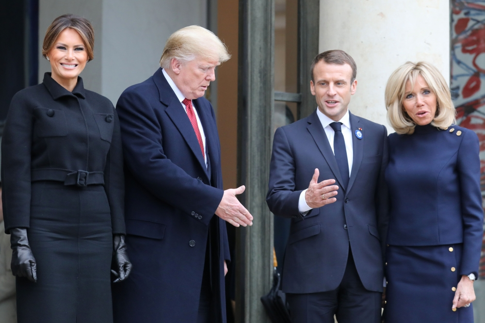 Trump and Putin join Macron in sombre Paris ceremony
