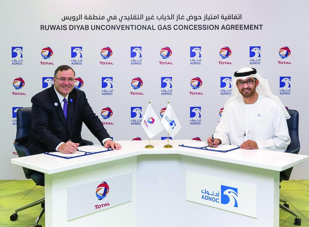 ADNOC grants Total 40% stake in unconventional gas concession