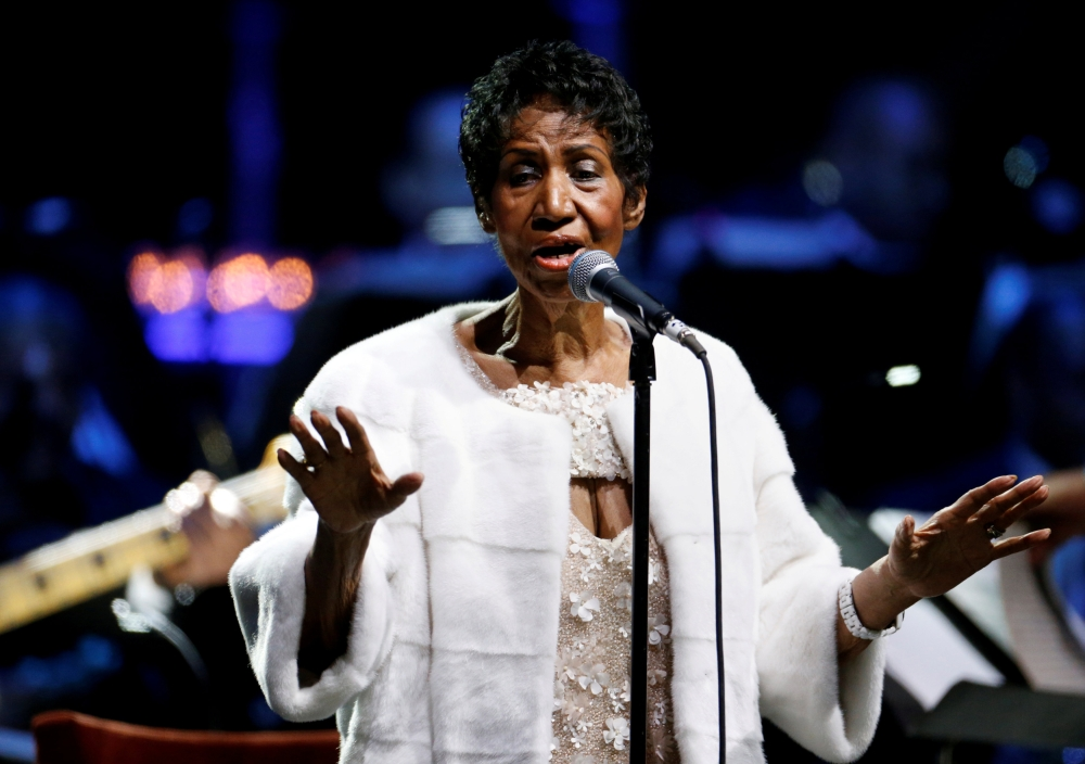 Aretha Franklin performs during the commemoration of the Elton John AIDS Foundation 25th year fall gala at the Cathedral of St. John the Divine in New York City, in New York on Nov. 7, 2017. — Reuters file photo