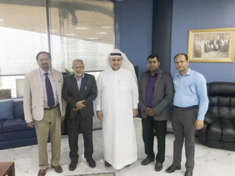 Ashok Sethi, director, Trade Promotion Council of India (TPCI), Ministry of Commerce & Industry, India along with Mazen M. Batterjee, vice chairman, during a meeting at Jeddah Chamber.