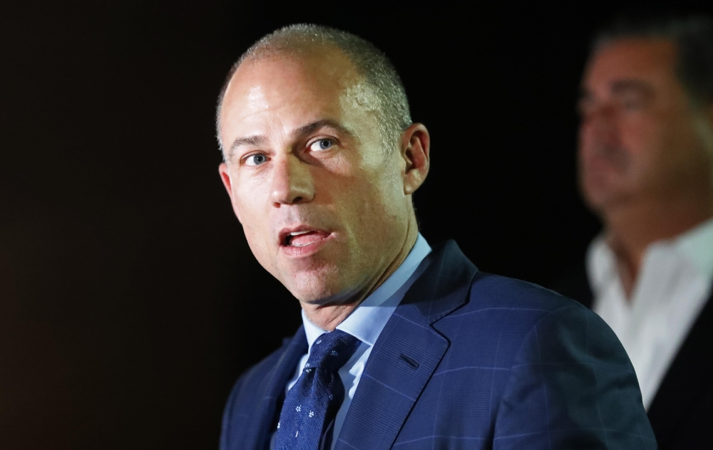 Michael Avenatti, attorney for adult film actress Stormy Daniels, leaves Los Angeles Police Department Pacific Division after being arrested on suspicion of domestic violence, in Culver City, California, on Wednesday. — Reuters