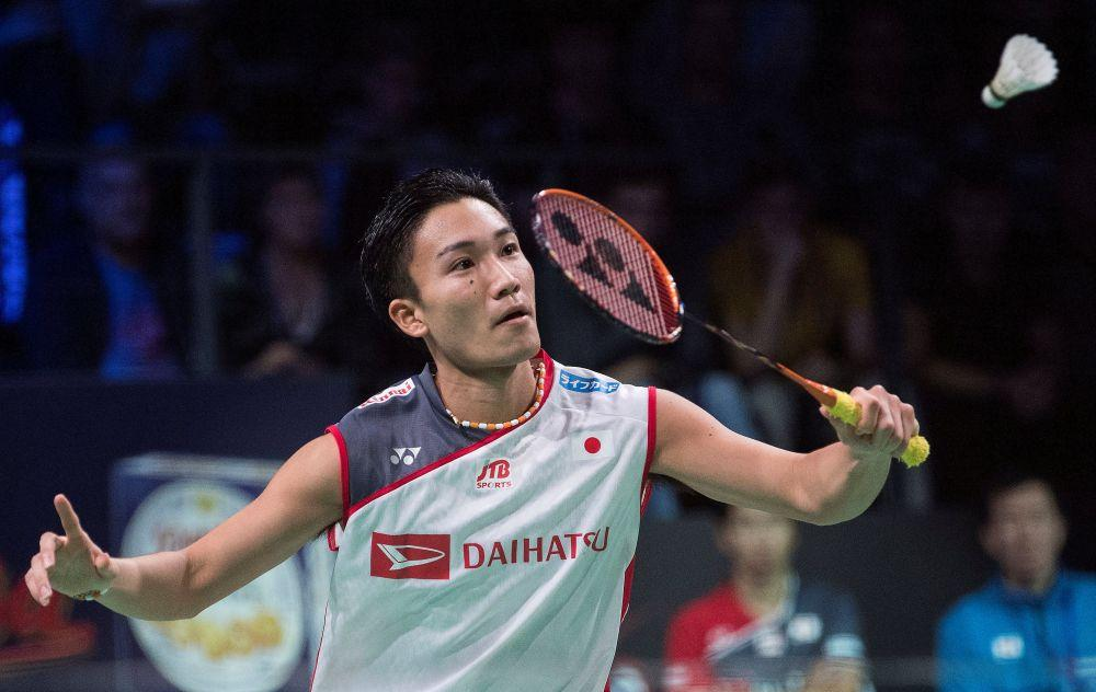 File photo shows Kento Momota of Japan in action against Tien Chen Chou of Taiwan during the Danisa Denmark Open 2018 Men's Singles Finals at Odense, Denmark. — Reuters