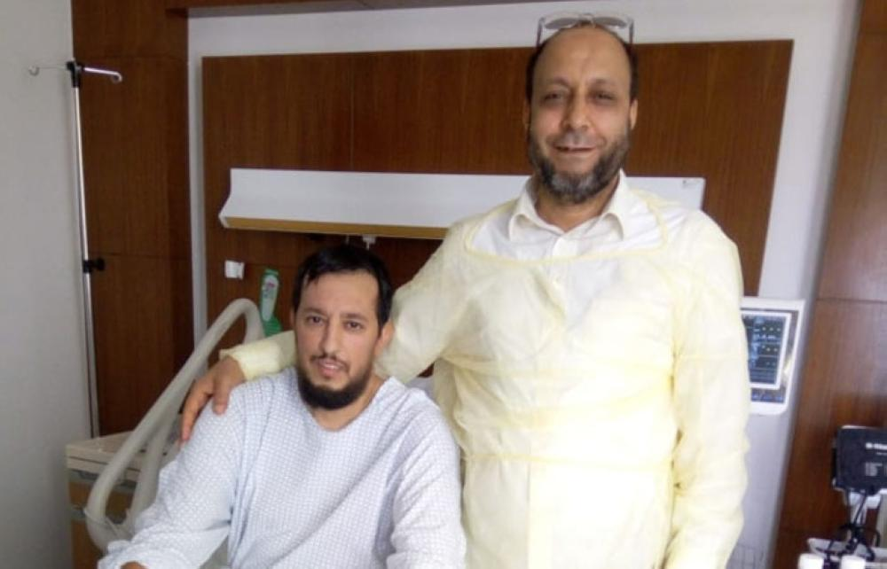 French citizen Khalifa Qandouzi before leaving hospital after his kidney transplantation in Jeddah.