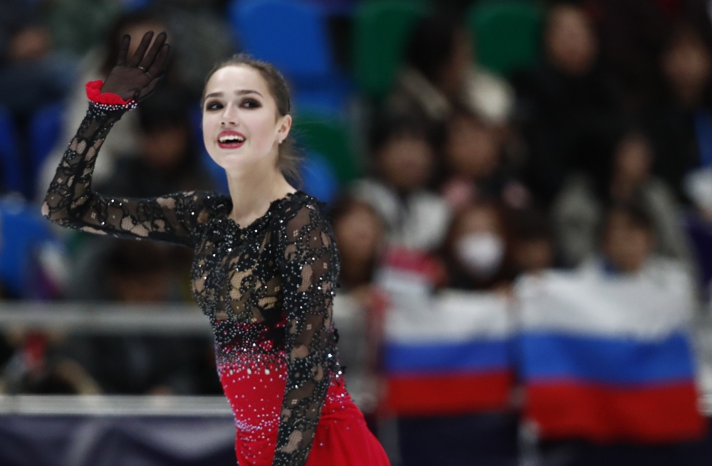 Alina Zagitova of Russia skates to the gold in the women's section of the ISU Grand Prix Rostelecom Cup 2018 Ladies' Free Skating Moscow, Russia, on Saturday. — Reuters