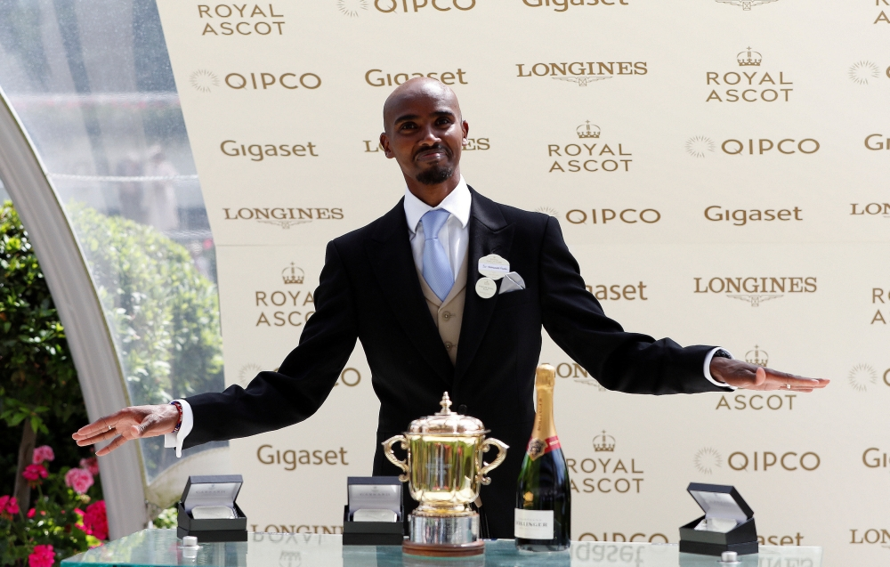 Mo Farah  seen at the Ascot Racecourse, Ascot, Britain, in this file photo. — Reuters