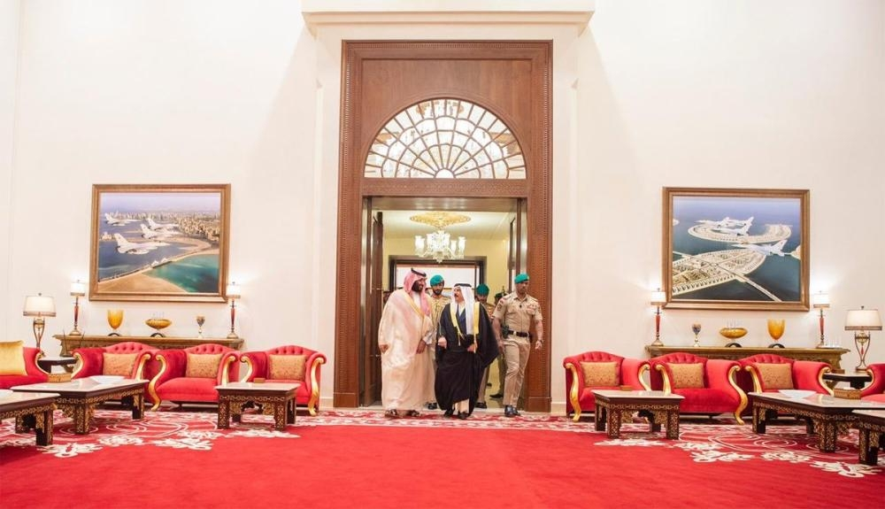 Crown Prince holds talks with King Hamad in Bahrain