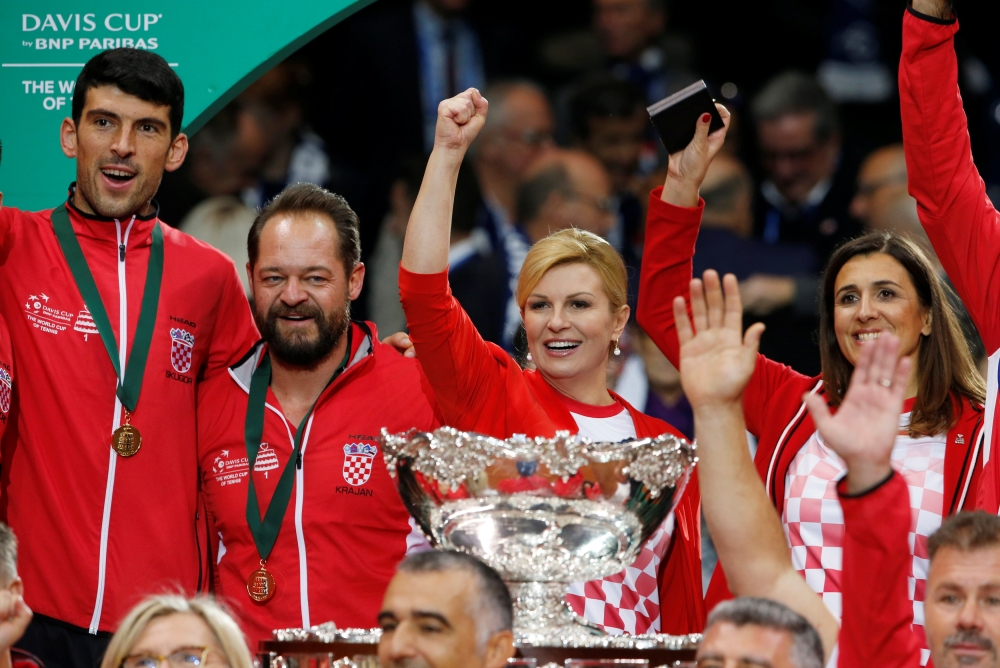 Croatia ease to 2-0 over France in Davis Cup final