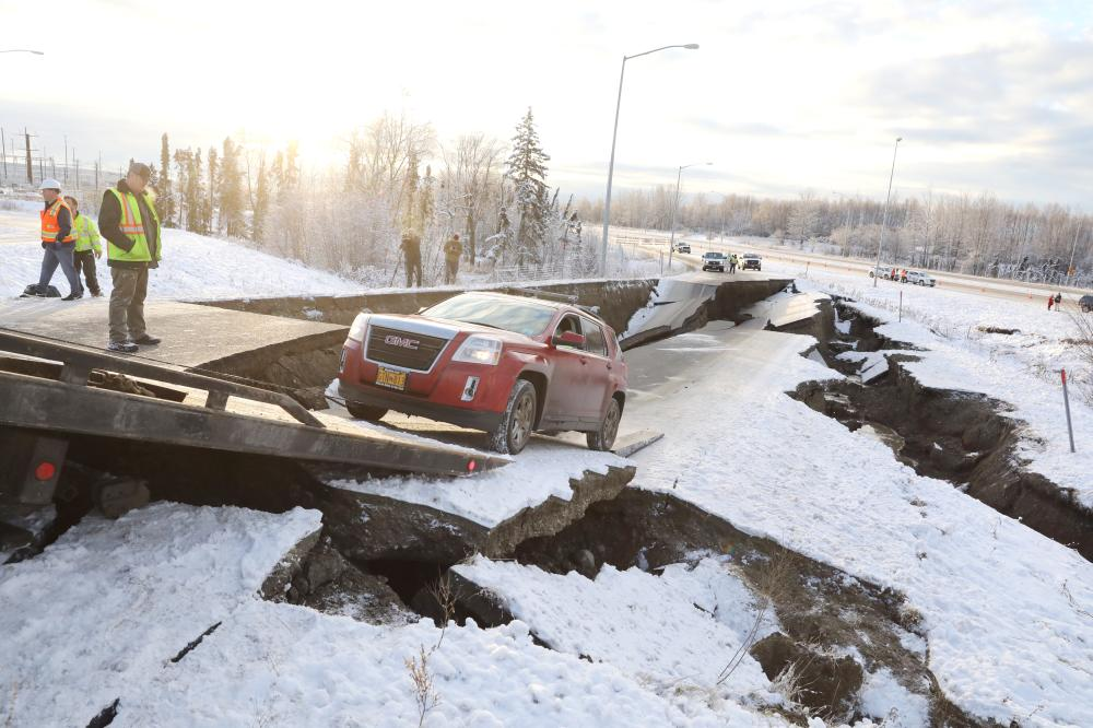 Anchorage quake: Photos and videos show street damage, trembling structures