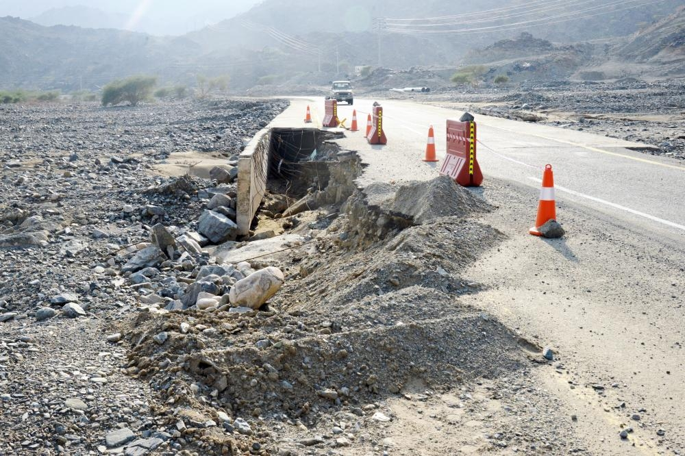 Many of the road projects in the rural areas give off in the first of rain.
