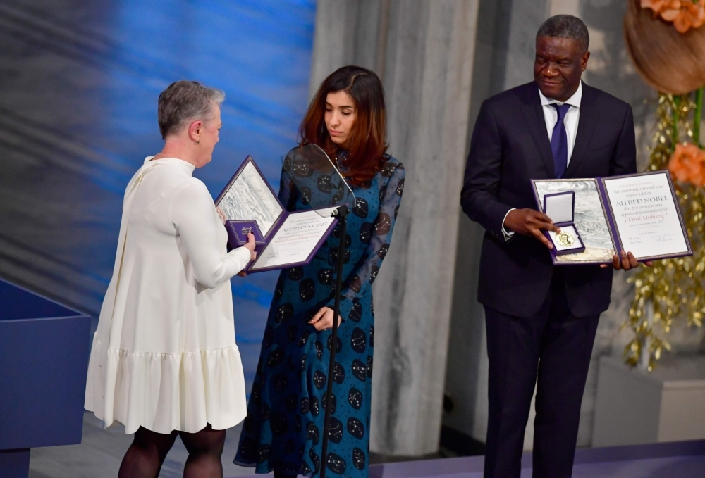 Joint Nobel Peace Prize winners dedicate prize to addressing war rapes