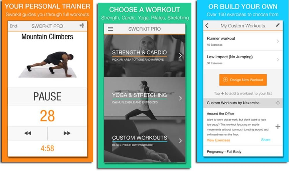 Fitness applications for home workout