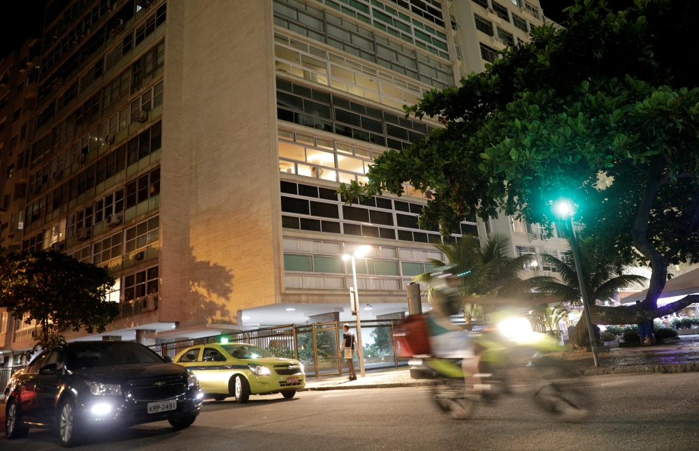 The building in which an apartment containing cash, art works and personal belongings of Carlos Ghosn is pictured in Rio de Janeiro, Brazil. — Reuters