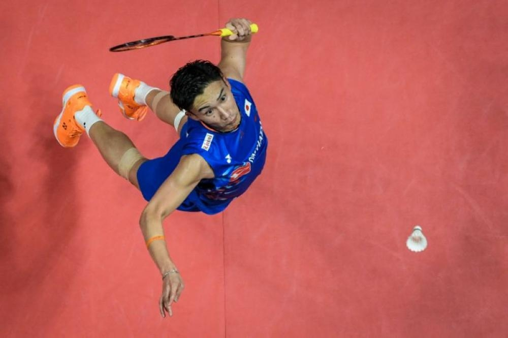 Kento Momota of Japan is in ominous form as he looks to put the seal on a breakthrough year. — AFP