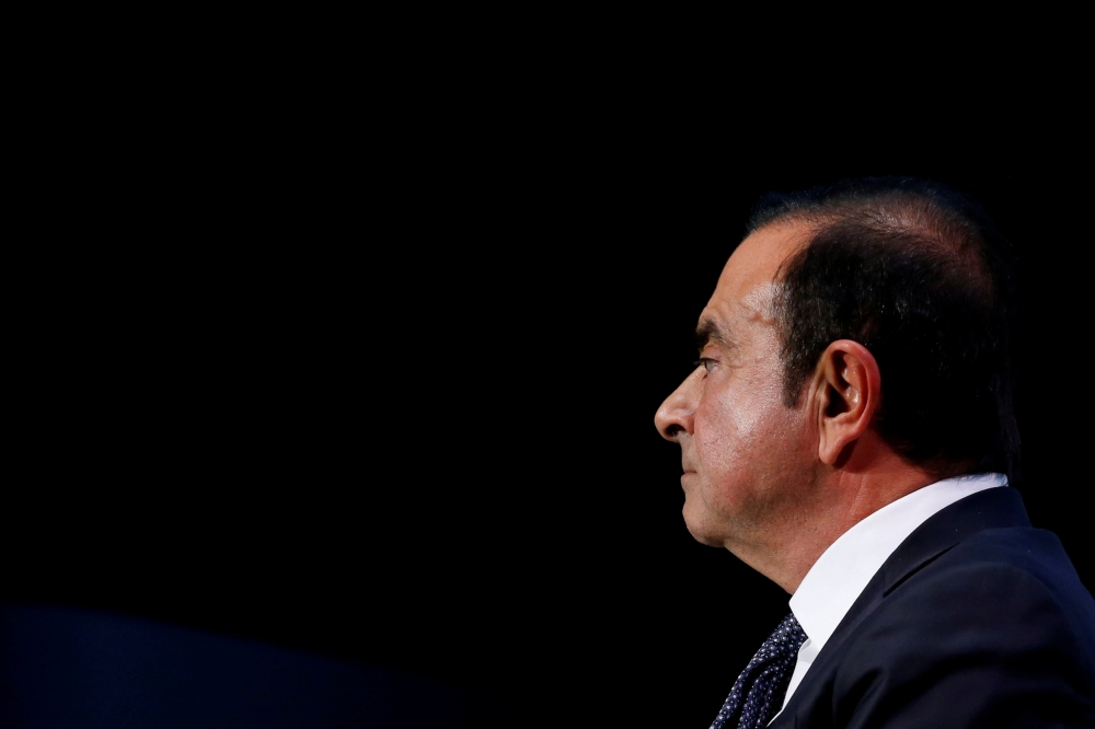 Carlos Ghosn attends the Paris Auto Show, in Paris, France, in this recent photo. — Reuters