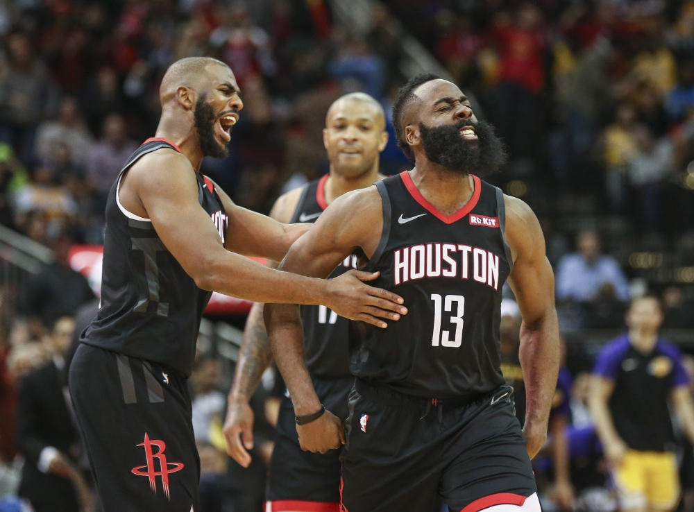 Harden sets record in triple-double show