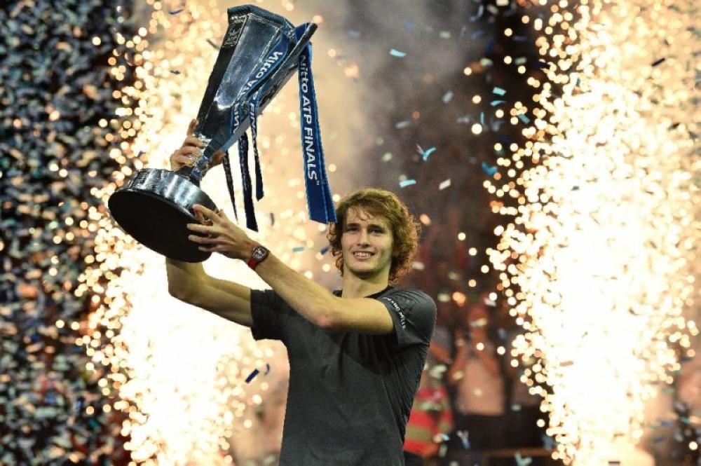 Germany's Alexander Zverev won the 2018 ATP Finals title. — AFP