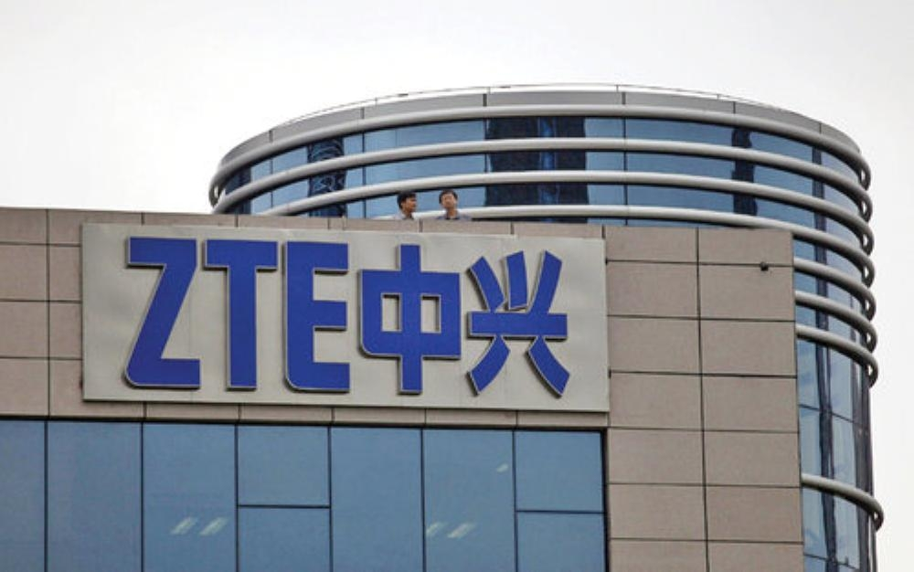 Chinese telecoms giant ZTE, seen in this file photo, lost its biggest contract in Germany, network provider Telefonica on Friday.