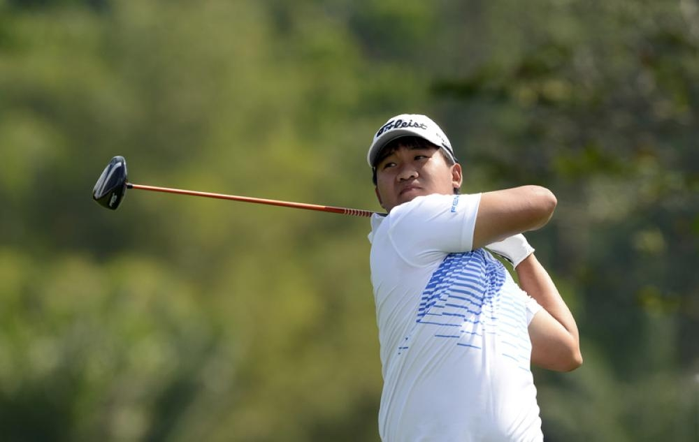 Thai golfer Poom Saksansin, seen in this file photo, at the Solaire Open at The Country Club, Manila, Philippines. — Reuters