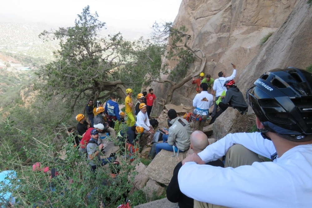 Adventure sporting enthusiasts celebrate the opening of the first rock climbing areas in the Kingdom in Shafa and Tanouma.