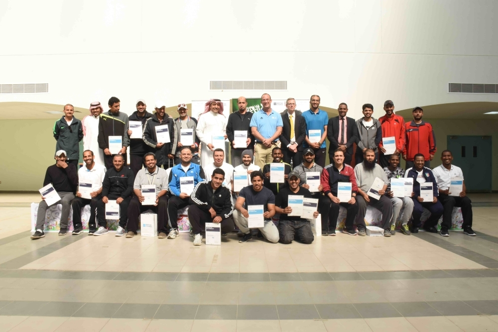 The participants in the first phase of the training program in Riyadh.