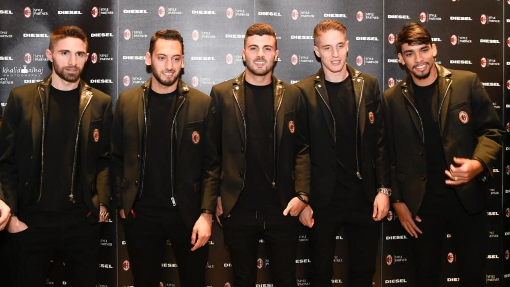 AC Milan players visit Diesel Tahlia store
