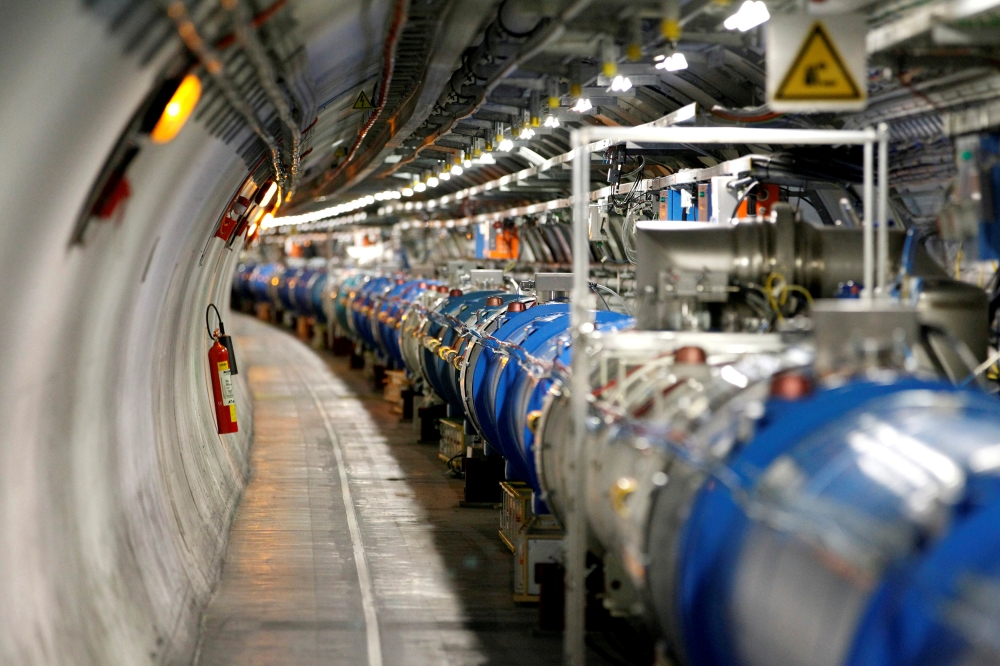 A general view of the Large Hadron Collider (LHC) experiment during a media visit at the Organization for Nuclear Research (CERN) in Saint-Genis-Pouilly, France, near Geneva in Switzerland, in this file photo. — Reuters