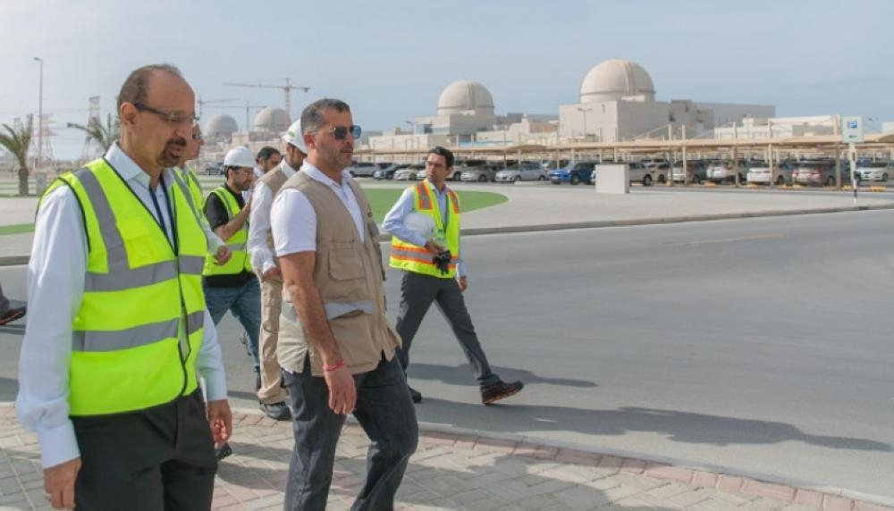 Khalid Al-Falih, minister of energy, industry, and mineral resources, seen visiting the Barakah Nuclear Energy Plant in the UAE. — Courtesy photo
