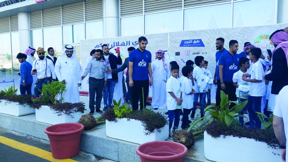 Takaful Charitable Society for Orphans Care plants palm tree under the initiative and aims to give back to society as well as raise funds for the orphans of Madinah