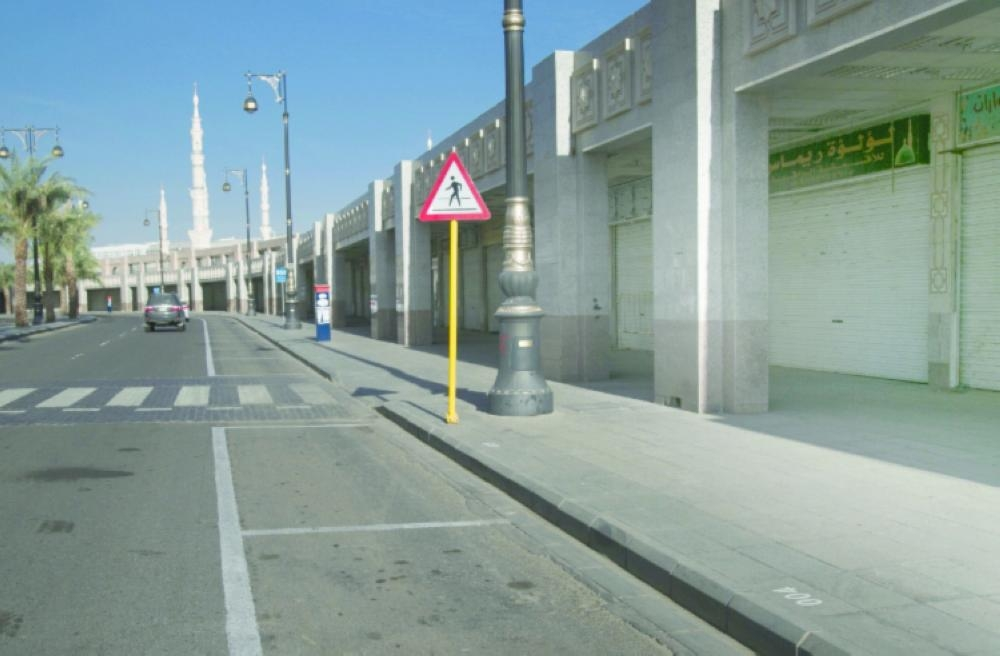 Shops abandoned by expatriate traders after the Ministry of Commerce and Investment intensified inspections remain closed in the central area of Madinah.