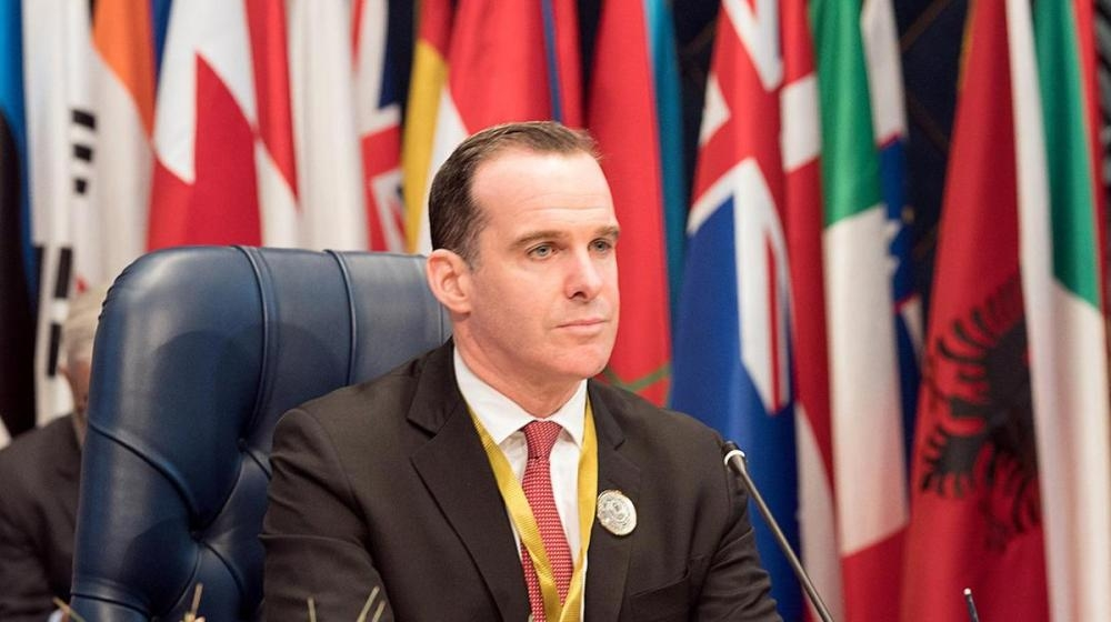 File photo of Brett McGurk, the former US envoy for the anti-Daesh (so-called IS) coalition. — Reuters