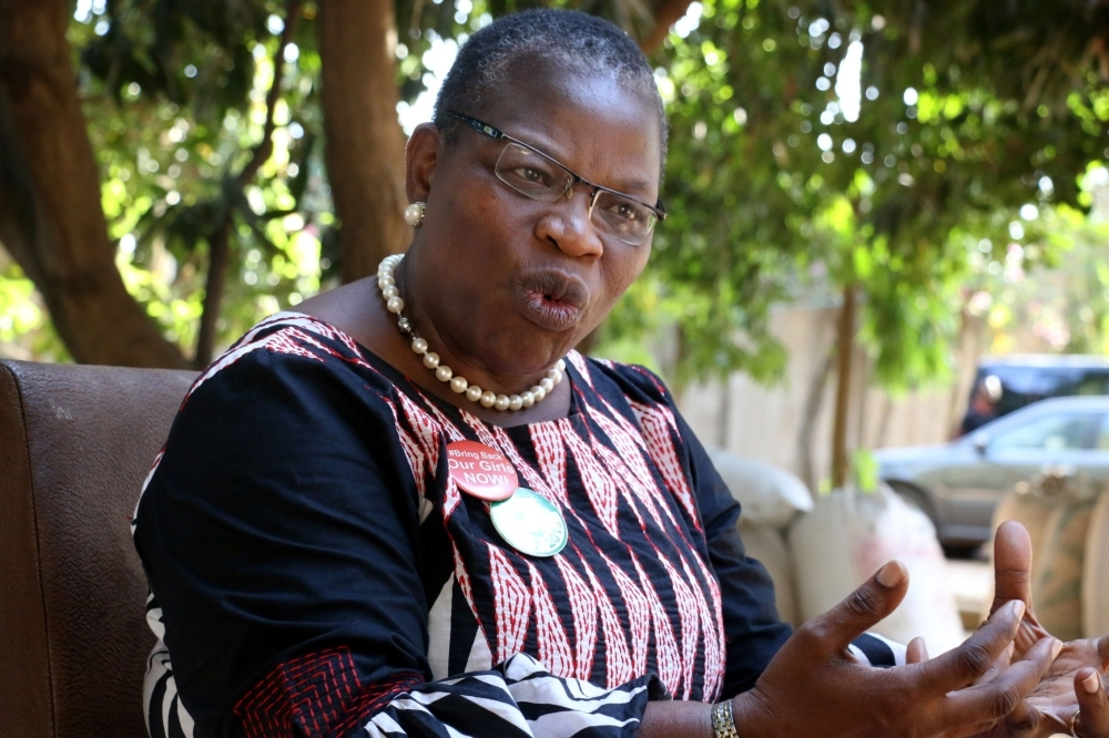 ACPN (Allied Congress Party of Nigeria) female presidential candidate Oby Ezekwesili speaks during her campaign in Kaduna, Nigeria, in this Jan. 17, 2019 file photo. — AFP