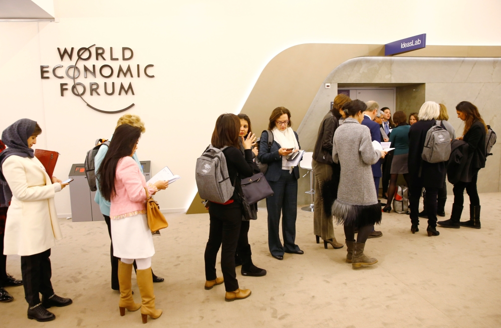 Attendees are seen during the World Economic Forum (WEF) annual meeting in Davos, Switzerland, on Tuesday. — Reuters